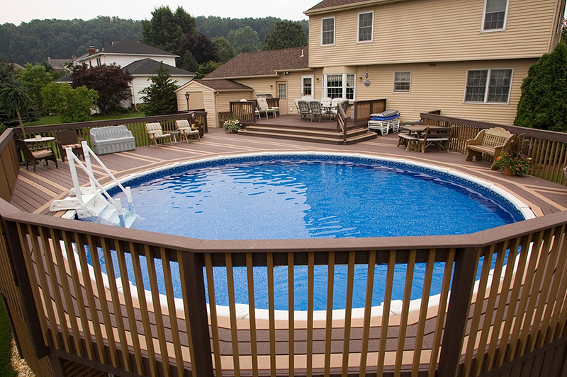 Free deck designs for hot tubs joy studio design gallery for Half in ground pool ideas