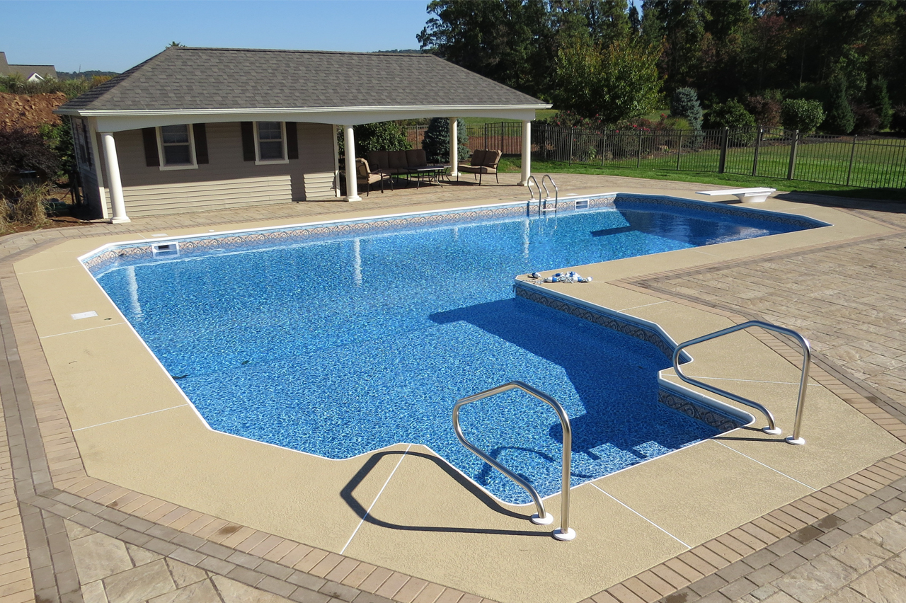 Swimming Pool Installation Service : Inground pools design installation service crystal